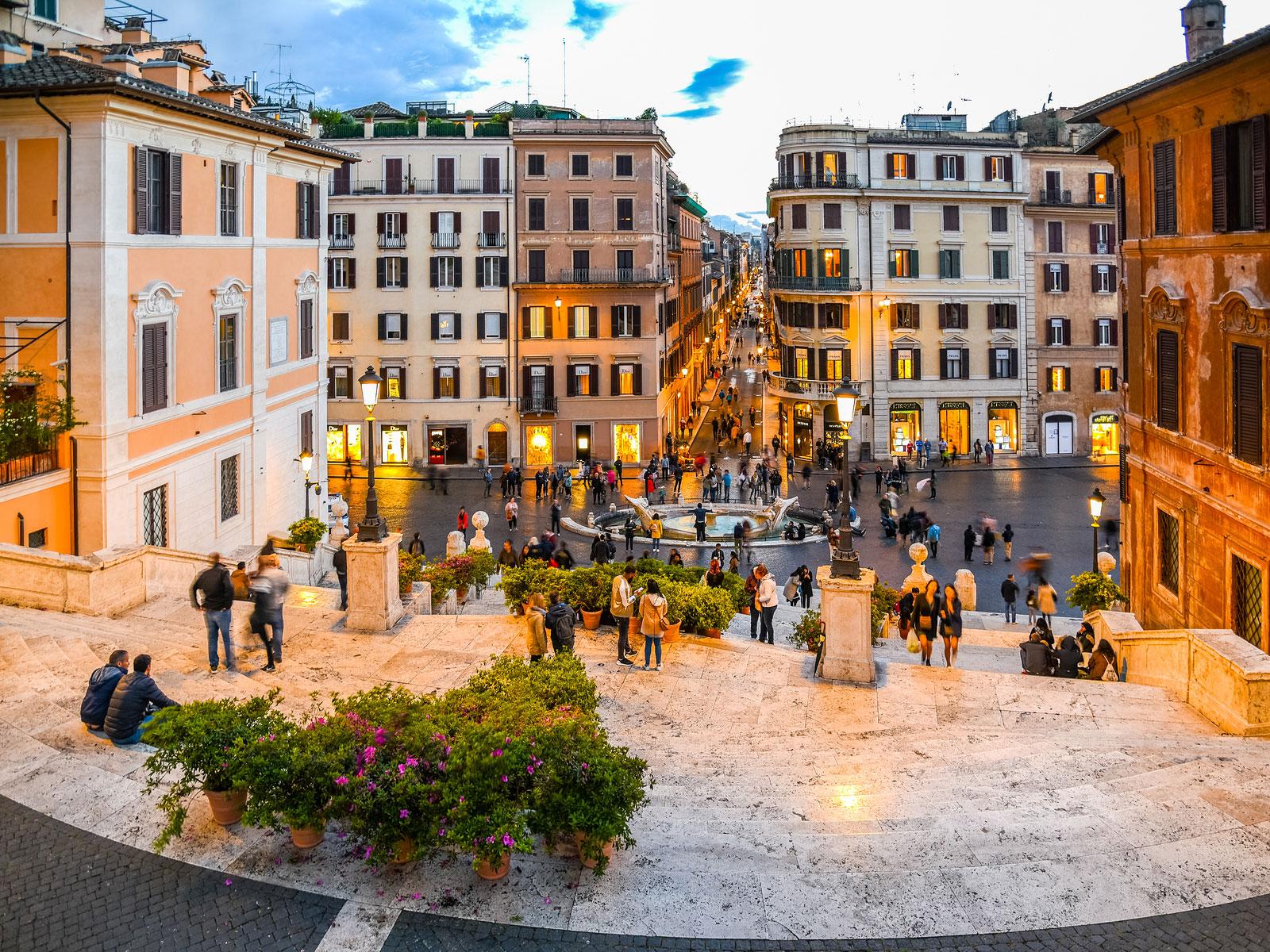 Via Veneto Roma Spansketrappen
